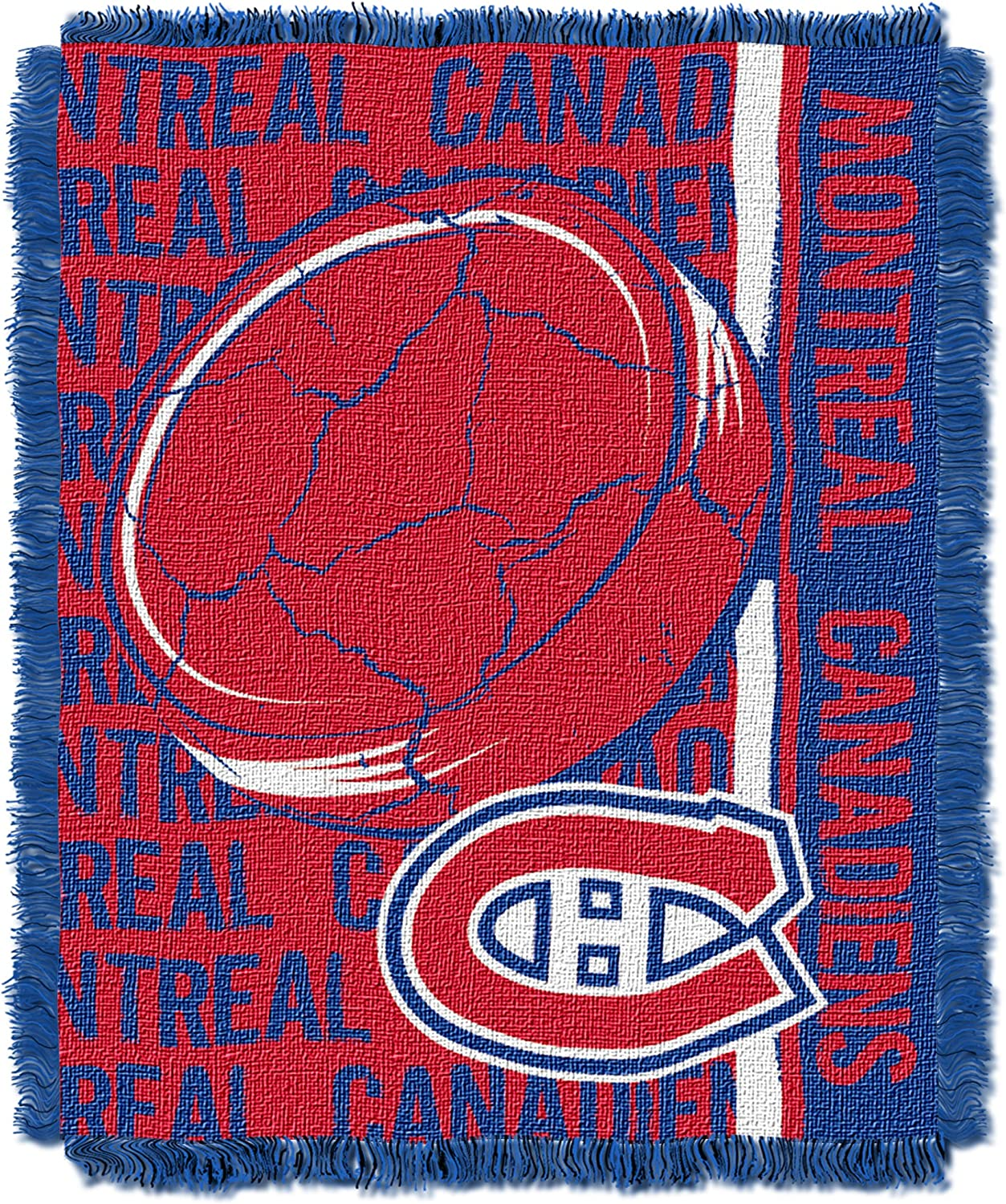 Officially Licensed NHL Double Play Jacquard Throw Blanket 48 x 60