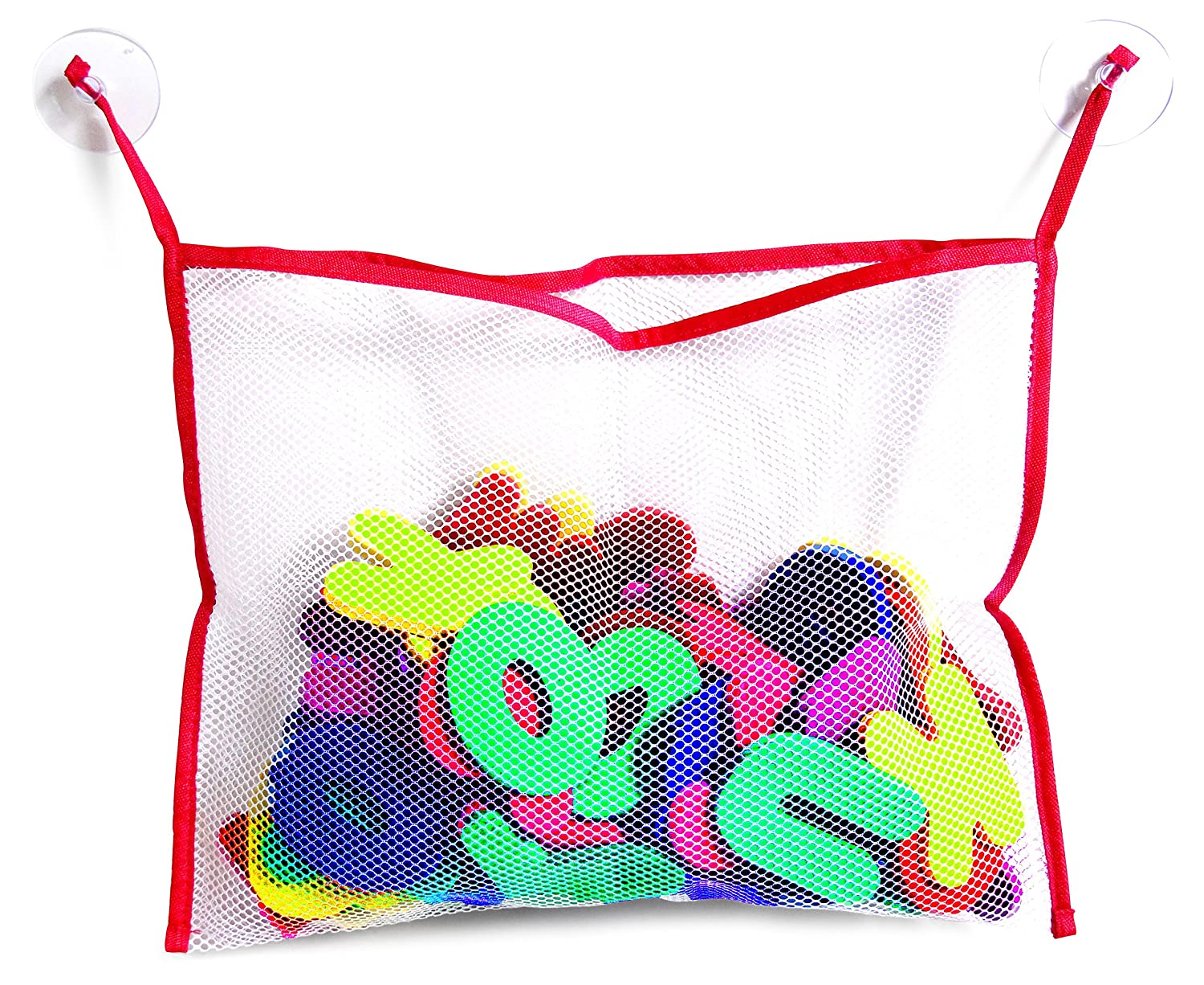 BeBesafety Bath foam letters and numbers with toy storage organizer net – Non toxic educational and fun toy for kids!