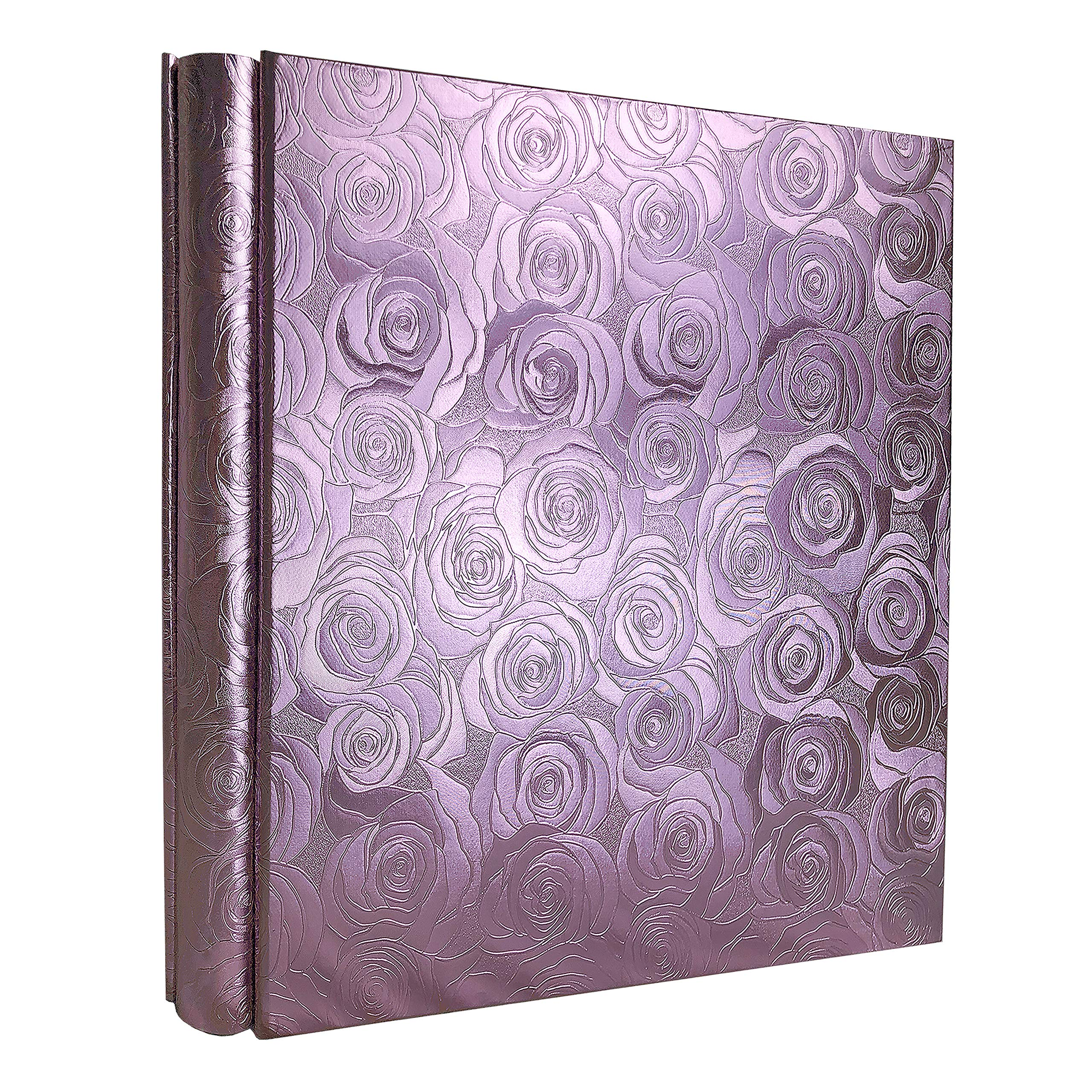RECUTMS Large Photo Album 600 4x6 Photos 5 Pockets Per Page Memo Album Adventure Book Travel Record Birthday Gift for Couples (Purple Rose) by RECUTMS