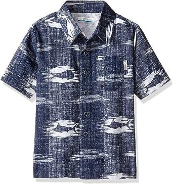 Columbia Camisa de Manga Corta para niño, Niños, Color Collegiate Navy Fish, tamaño Medium: Amazon.es: Ropa y accesorios