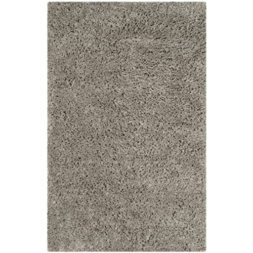 Safavieh Florence Shag Collection Handmade Silver Area Rug 3 x 5