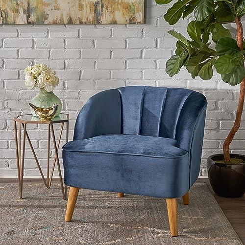 Christopher Knight Home 303500 Scarlett Modern Cobalt Velvet Club Chair