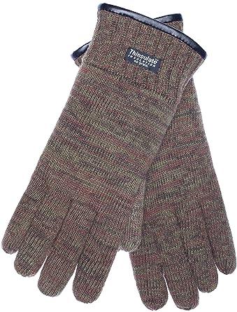 35e29b920900f3 EEM Herren Strick Handschuhe FYNN mit ThinsulateTM Thermofutter, 100% Wolle  oder 100% Baumwolle