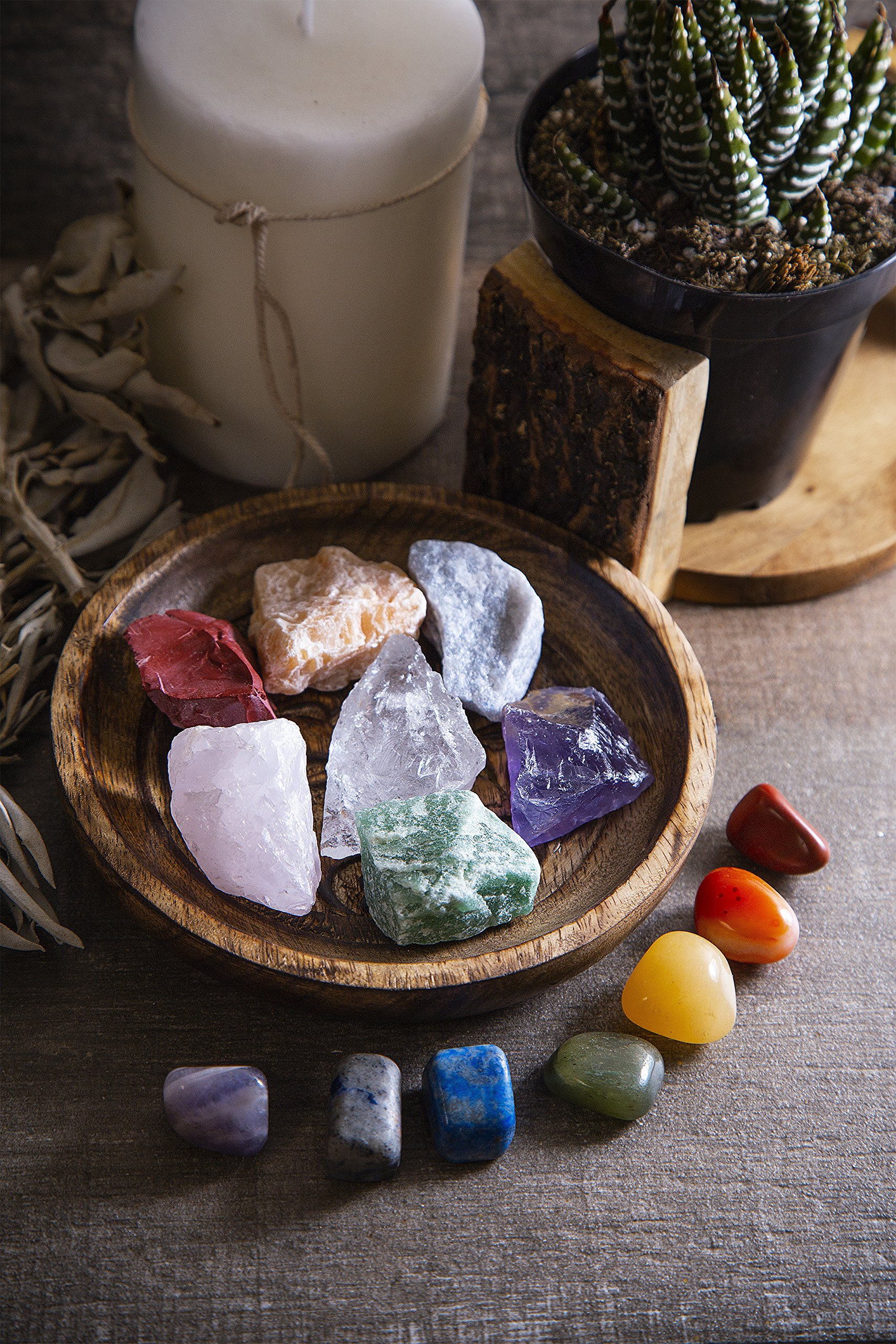 Beverly Oaks Energy Infused Natural Raw Healing Crystals and Tumbled Stones - Chakra Stones For Crystal Healing - The Ultimate Chakra Kit with Huge Variety of Gemstones by Beverly Oaks