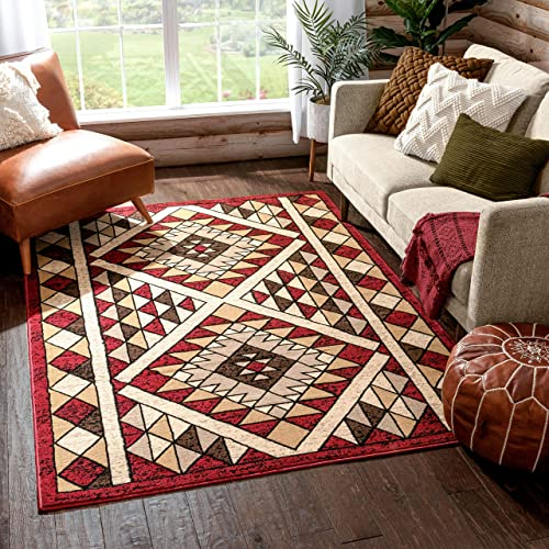 Well Woven Neche Red Oriental Medallion Area Rug 8×10 7'10″ x 9'10″