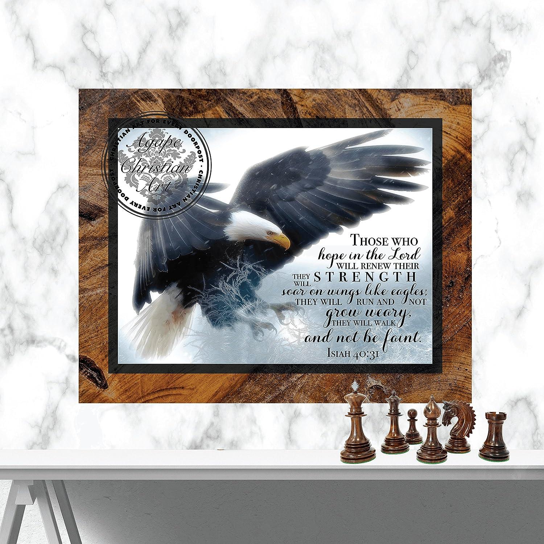 Isaiah 40:31 | Christian Wall Art | Bible Verse | Home Decor | Inspirational Art | Scripture Art Print | Soar On Wings Like Eagles (11x14)
