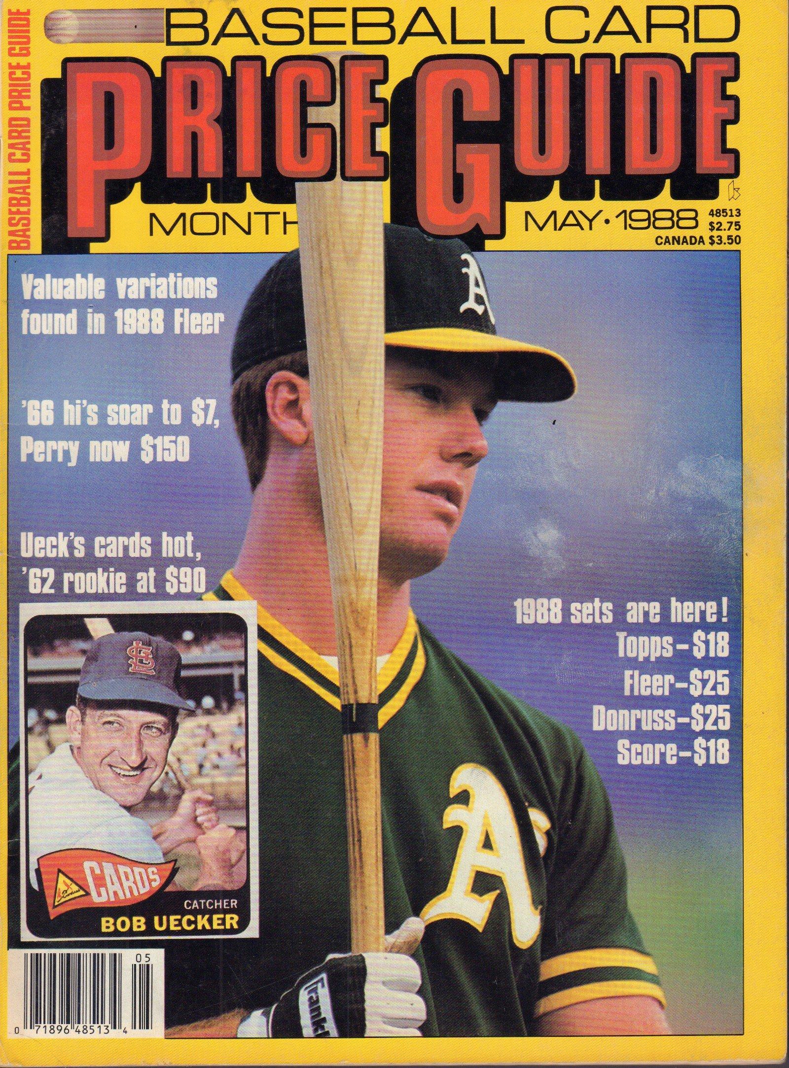 Baseball Card Price Guide May 1988 Bob Uecker Kp Amazon