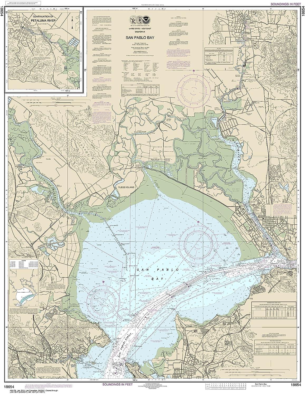 MapHouse NOAA Chart 18654 San Pablo Bay 41.98 X 32.38 Paper Chart