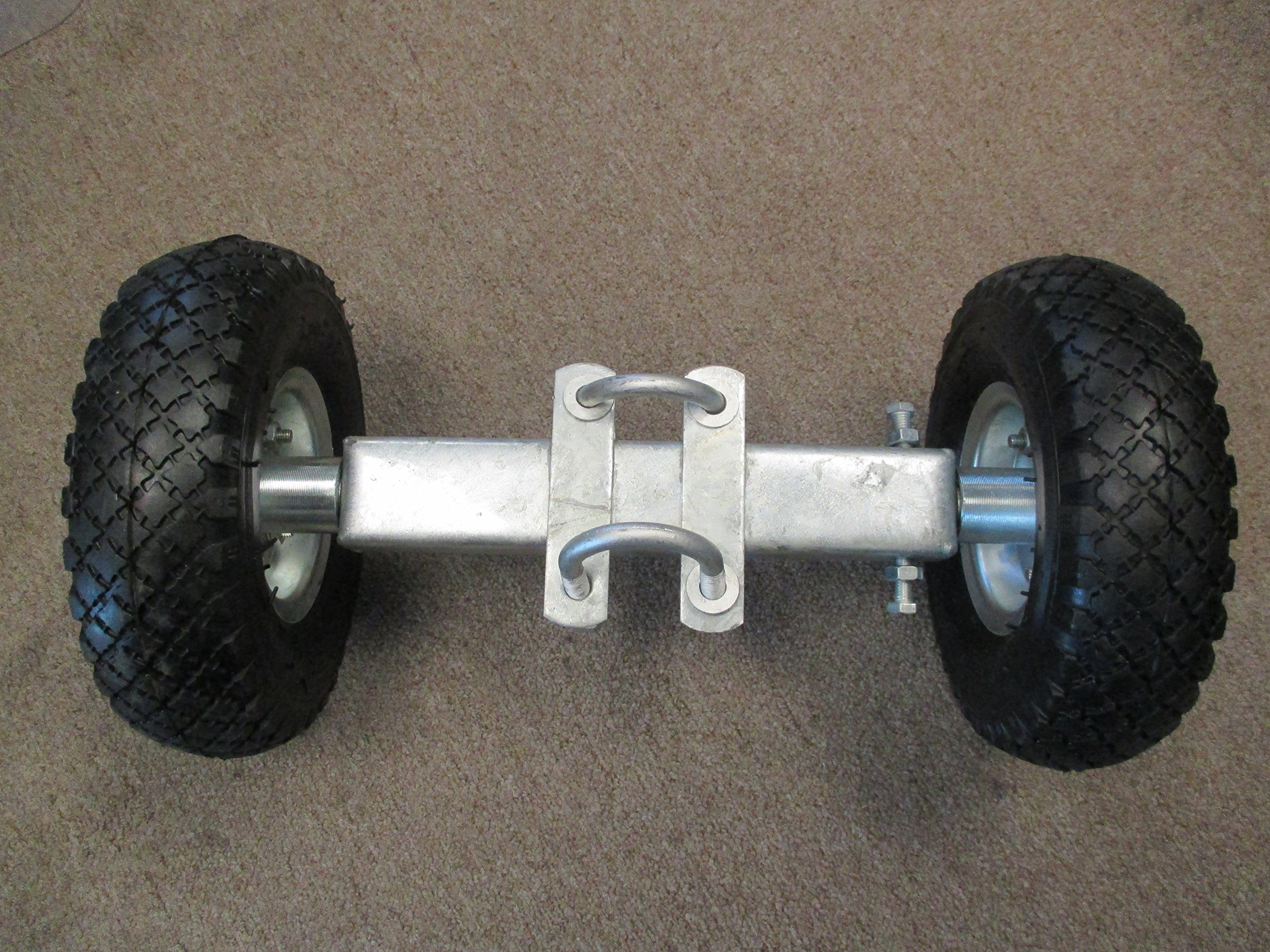 10'' Rolling Gate Carrier Wheels, Heavy Duty Pneumatic (air filled)
