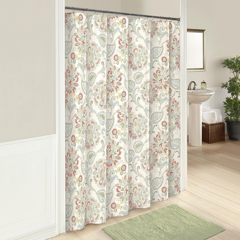 Marble Hill 16248SHWR072BAS Shower Curtain, 72x72, Basil Ellery Homestyles
