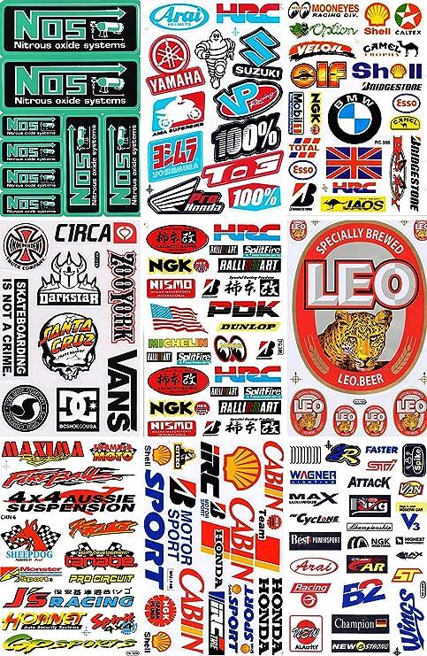 Dd Set Konvolut 9 Bogen Bögen Sponsoren Sticker Aufkleber