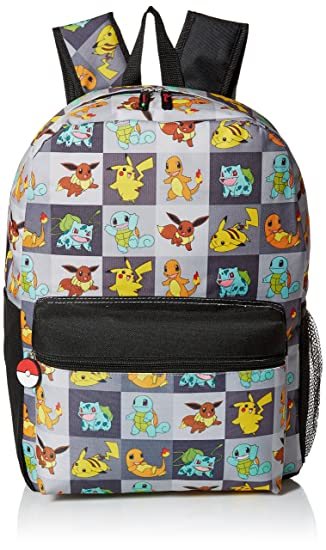 74550ed8468f Pokemon Big Boys Allover Print 17 quot  Backpack