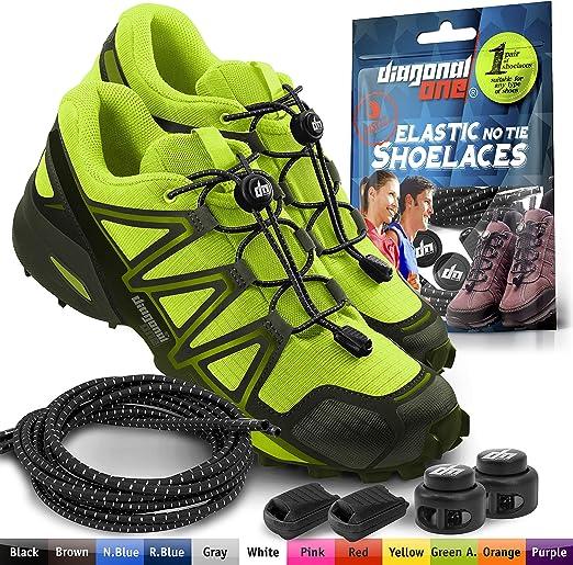 Fashion Man Elastic No Tie Locking Shoelaces Trainer Running Athletic Shoelace