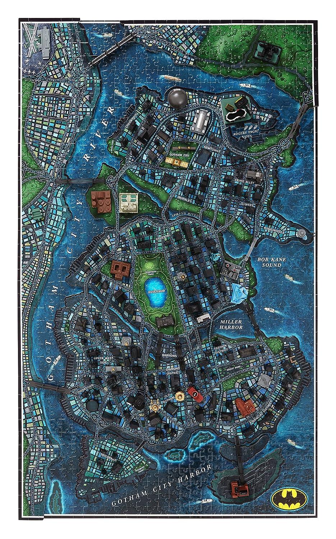 amazon com 4d cityscape 4d batman gotham city time puzzle 1000 piece toys games