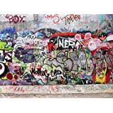 Fototapete Graffiti 3 350cm Breit x 260cm Hoch Vlies Tapete Wandtapete - Tapete - Moderne Wanddeko - Wandbilder - Fotogeschenke - Wand Dekoration wandmotiv24