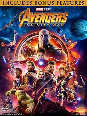 Avengers Infinity War Blu-Ray DVD