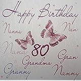 Hallmark Grandma 80th Birthday Card Amazoncouk Office Products