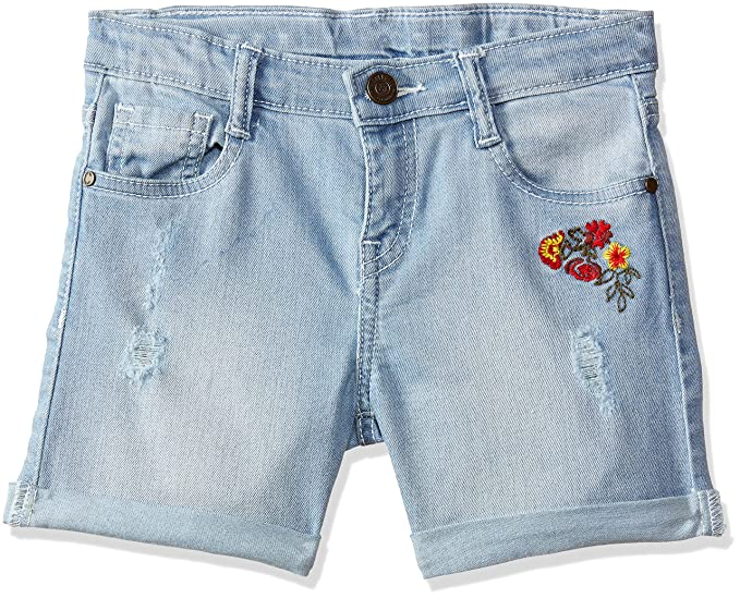 ca74d759cd489 Cherokee by Unlimited Girls  Regular Fit Shorts  (276402713 Lt-Blue 07Y Os-11)