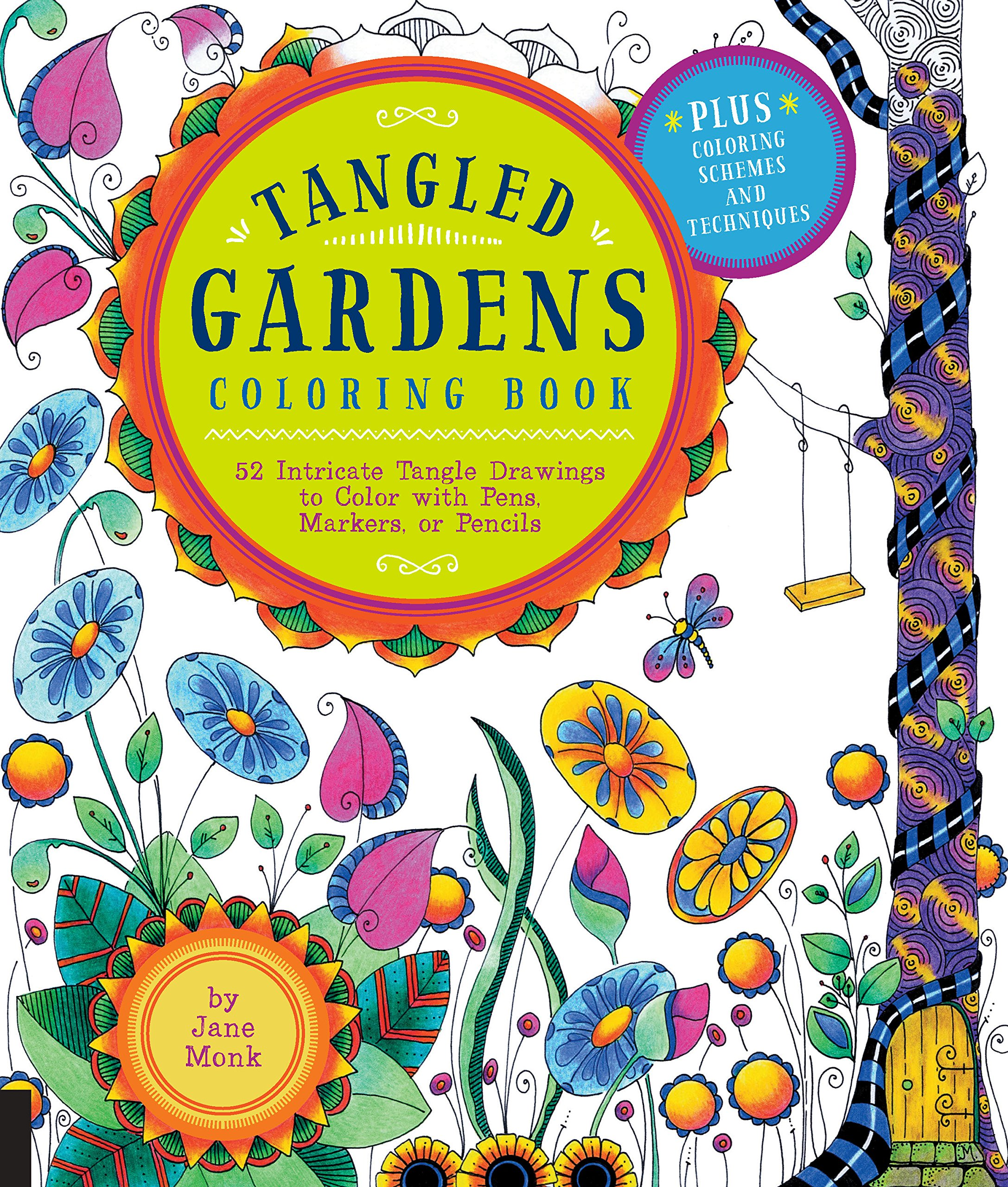 tangled gardens coloring book 52 intricate tangle drawings to color with pens markers or pencils tangled color and draw