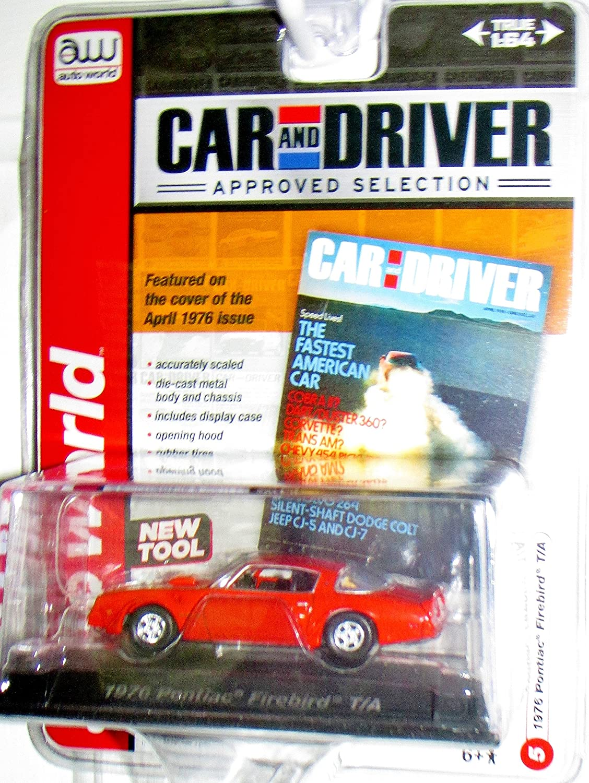 tienda de pescado para la venta AUTO WORLD CAR AND DRIVER MAGAZINE EDITION ORANGE ORANGE ORANGE 1:64 SCALE 1976 PONTIAC FIREBIRD T/A DIE-CAST by Auto World  gran venta