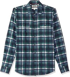 1f69bff7837 Amazon.com  Goodthreads Men s Slim-Fit Long-Sleeve Brushed Flannel ...