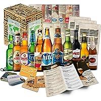"""""""BIRRE DEL MONDO"""" confezione regalo originale con le 12 migliori birre del mondo. Il miglior dettaglio per un amico, fidanzato, fratello, padre o nonno."""