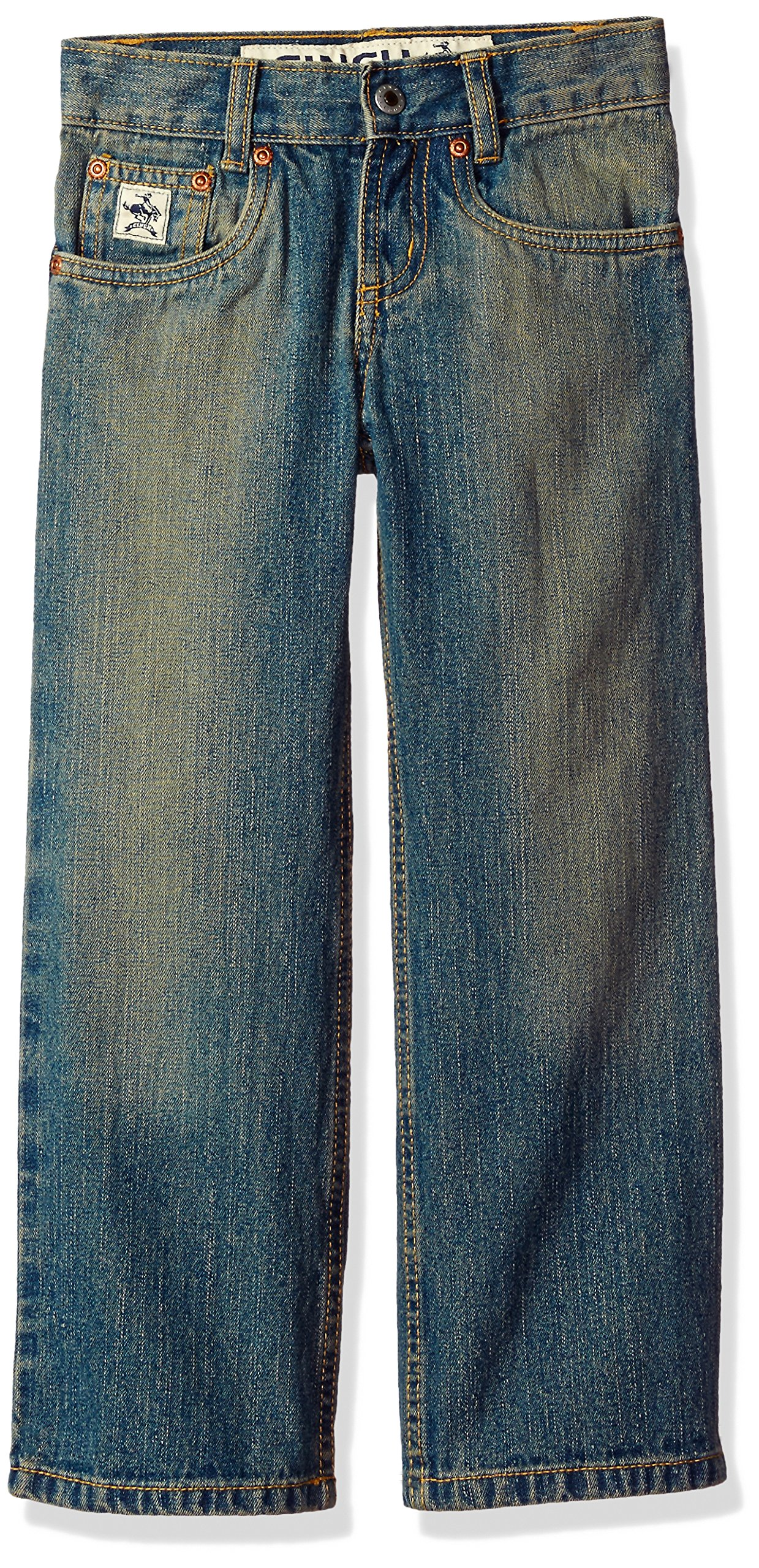 Cinch Boys' Little Low Rise Regular Jean, Medium Stone Wash with Tint, 6R