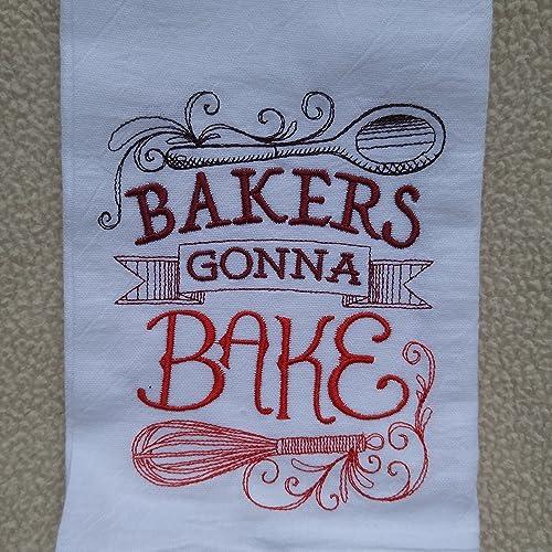Amazon Com Bakers Gonna Bake Flour Sack Towel Tea Towel