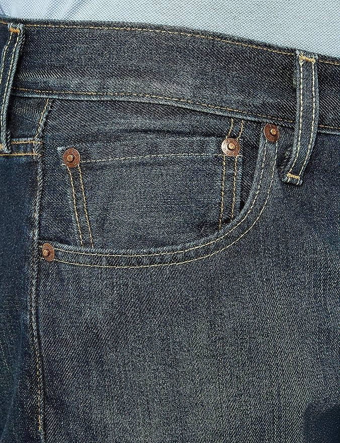 Levis 501 Straight Original Fit, Vaqueros para Hombre, Azul ...