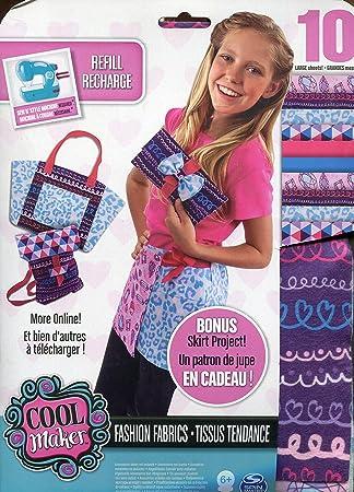 sew cool Creative Fabric Kit - Kits de Costura para niños (Combo Kit, Fashion