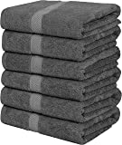 Utopia Towels Medium Cotton Towels, Gray, 24 x 48 Inches Towels for Pool, Spa, and Gym Lightweight and Highly Absorbent…