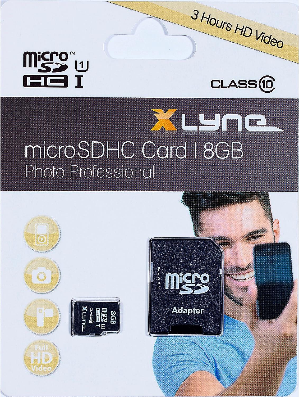 Xlyne Micro Sdhc Speicherkarte Mit Adapter 8 Gb Computer Zubehör