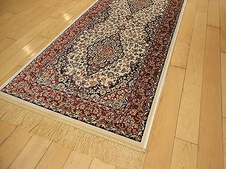 Silk Ivory Area Rug Luxury 2x4 White Classic Carpet 2x3 Door Mat Rugs  Persian Area Rugs