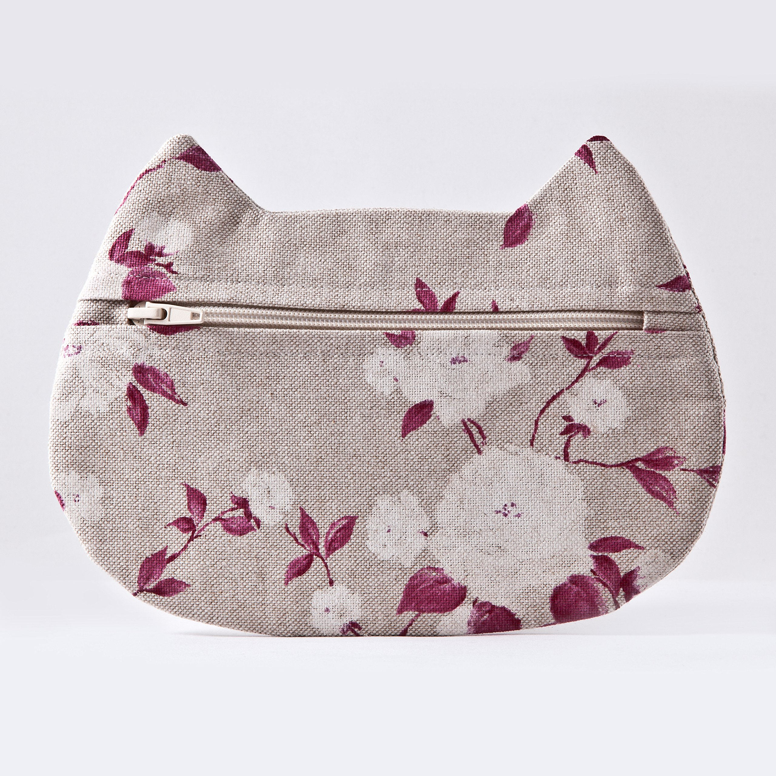 Floral Cosmetic Bag, Cat Makeup Bag, Pencil Case, Gifts for Travelers, Toiletries Bag, Beauty Bag