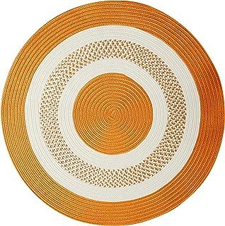 product image for Crescent Round Area Rug, 6-Feet, Orange