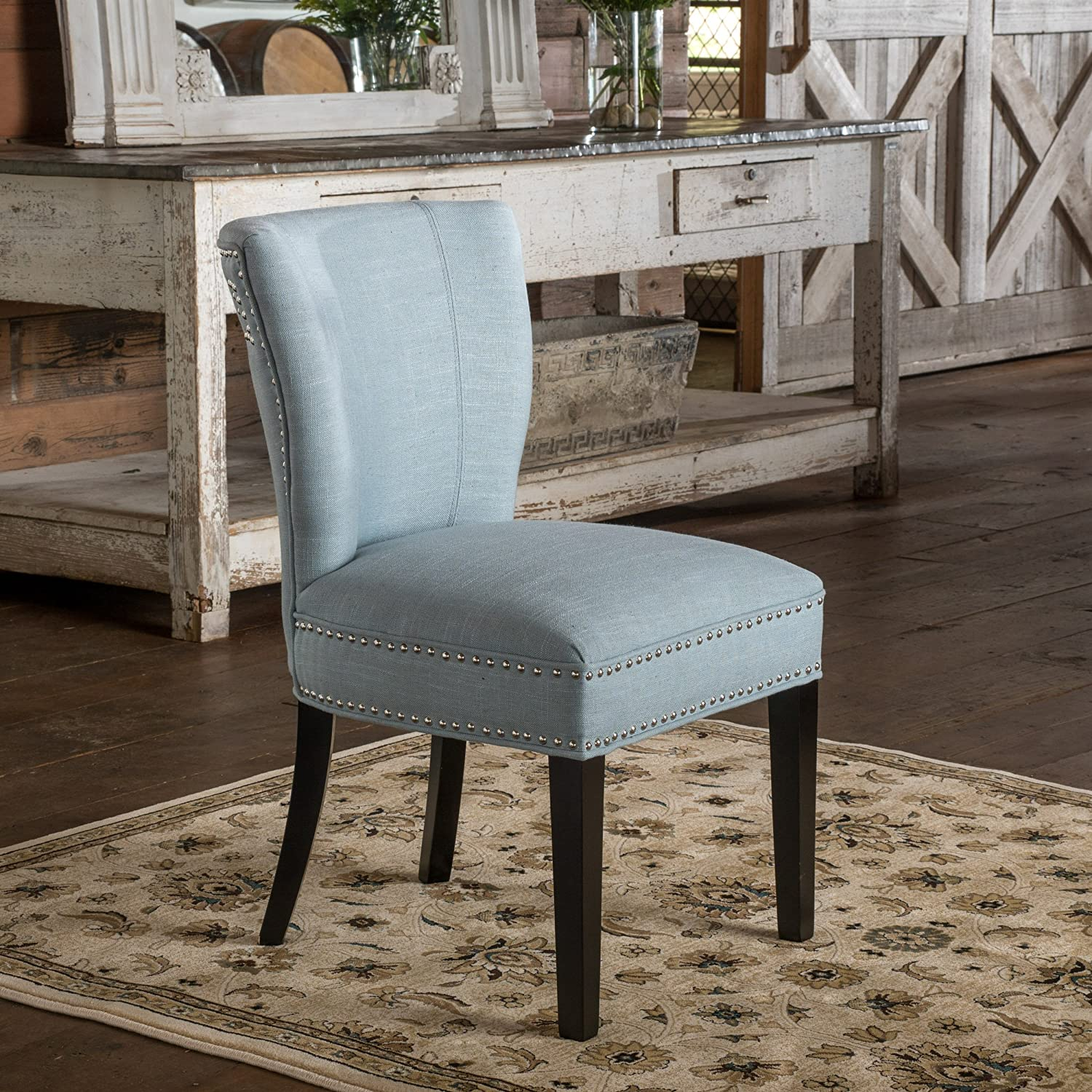 Christopher Knight Home Jackie Dining Chair, Ocean