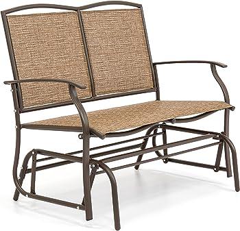 Best Choice 2-Person Patio Loveseat Glider Bench