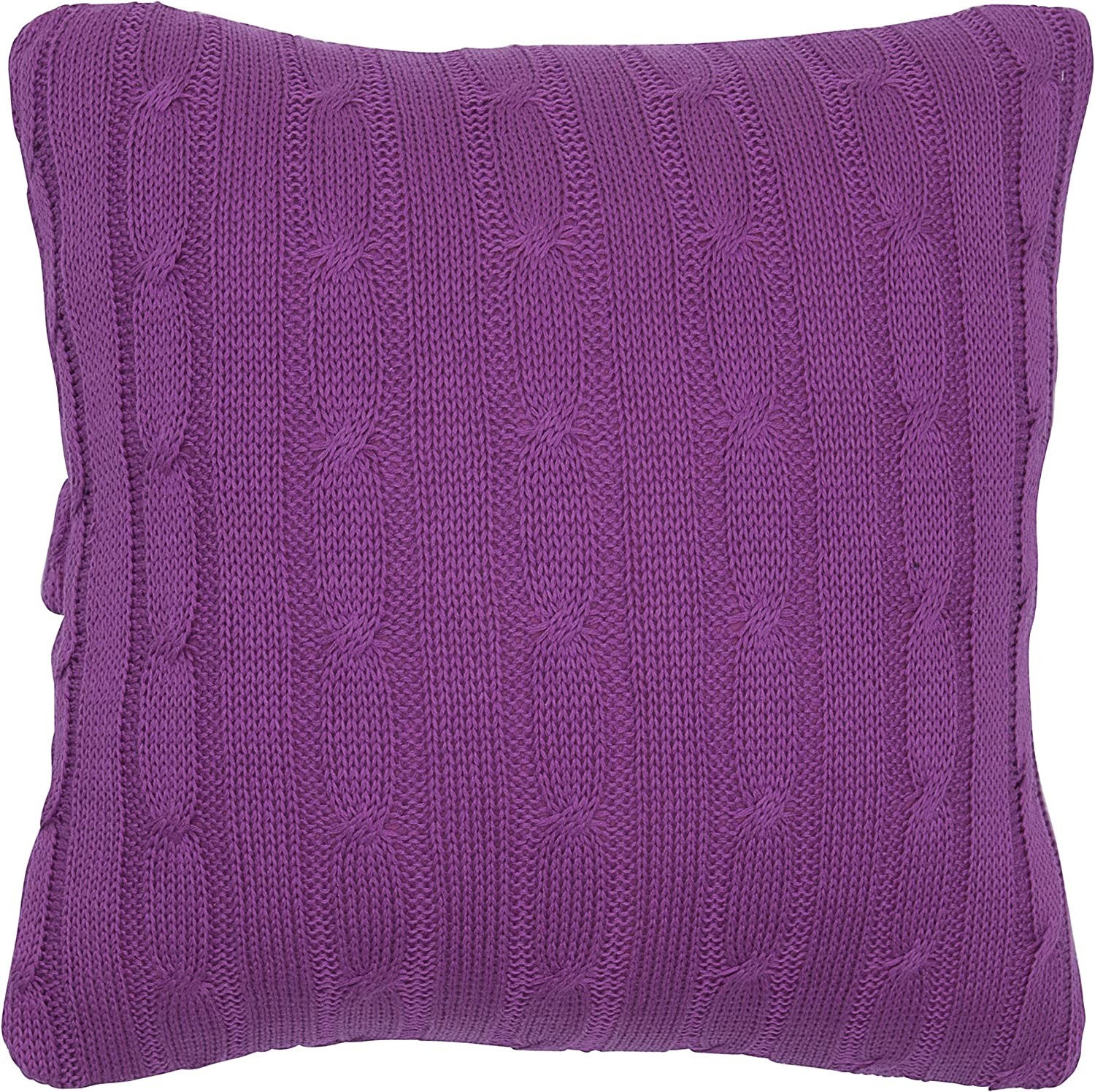 "Rizzy Home T05072 Decorative Pillow, 18""X18"", Raspberry"
