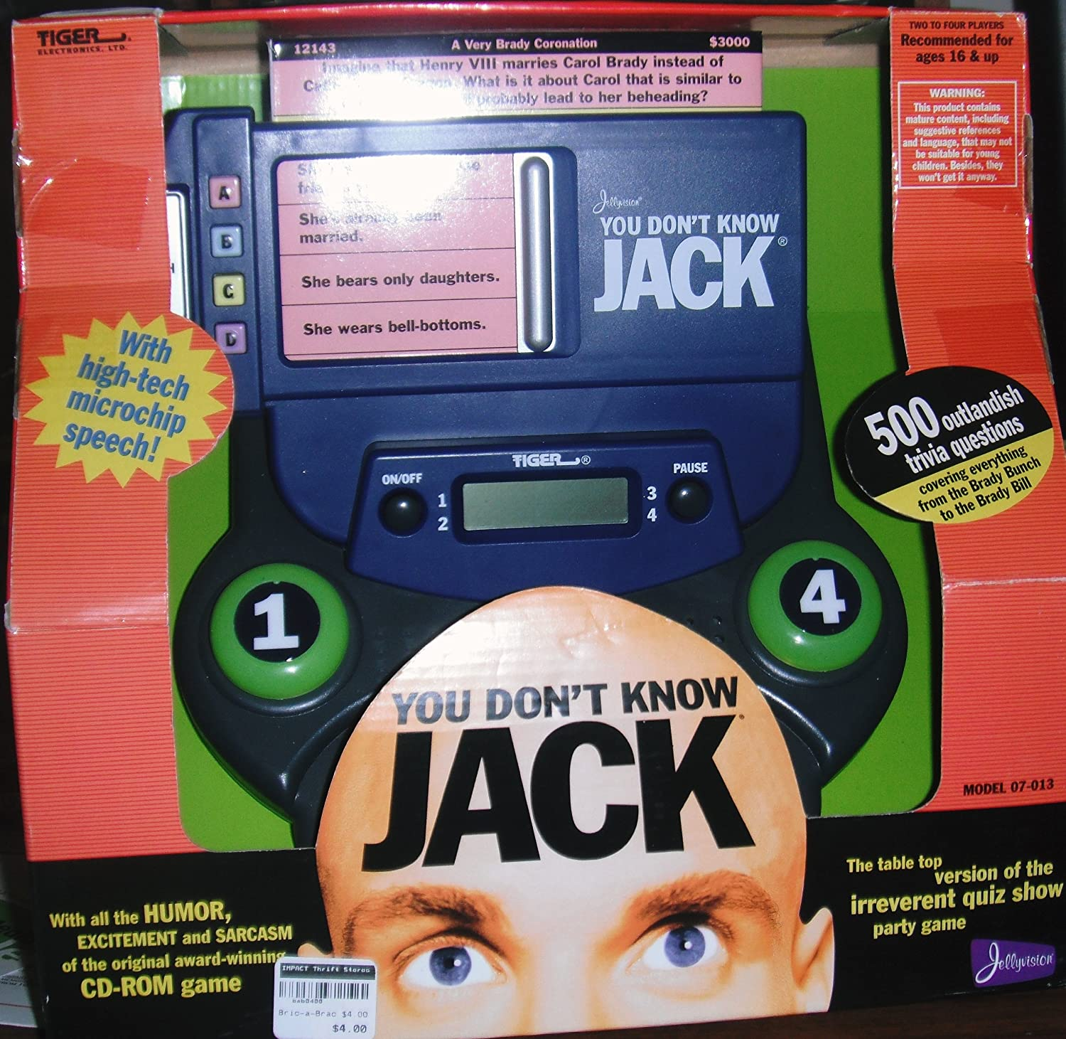 B00000IRXW You Don't Know Jack Electronic Game A1e2U1ntOfL.SL1500_