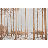 Copper-Toned Photo Print Wall Art of Sunrise Through the Trees in Swamp, 24