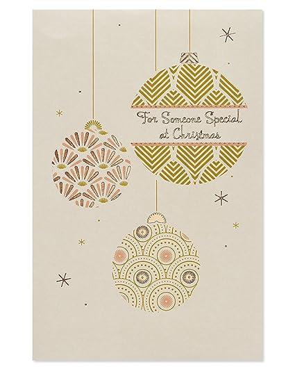 American Greetings Ornaments Christmas Card with Foil, 10 Pack - Amazon.com: American Greetings Ornaments Christmas Card With Foil