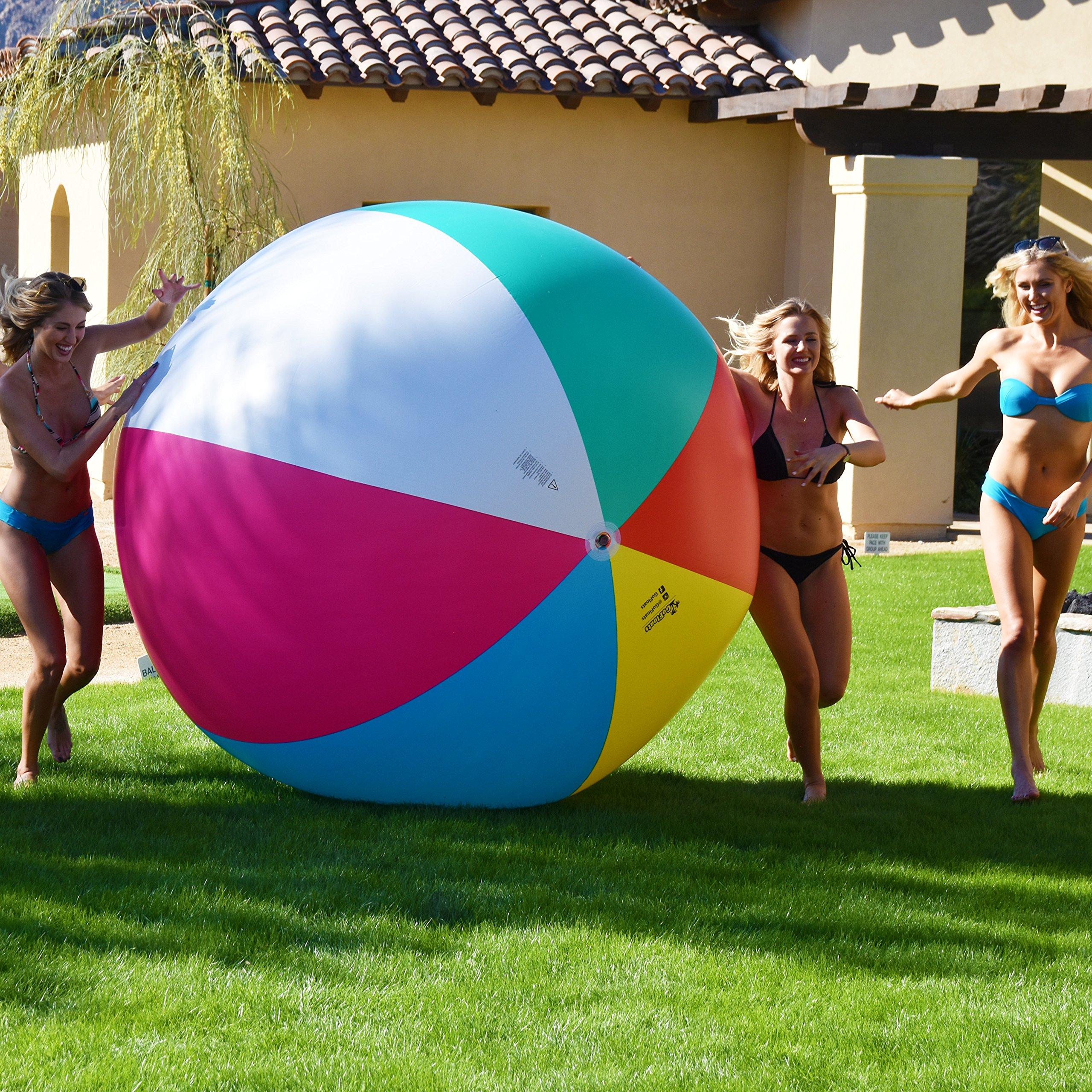 6' Giant Inflatable Beach Ball For Summer Beach Backyard