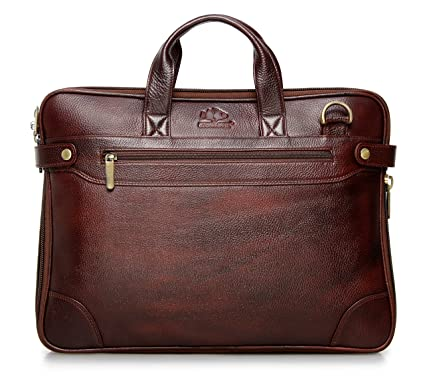 The Clownfish Dual Tone Leather Laptop Bag for upto 15.6 inches Maroon Black  - Buy The Clownfish Dual Tone Leather Laptop Bag for upto 15.6 inches  Maroon ... b852357f400f0