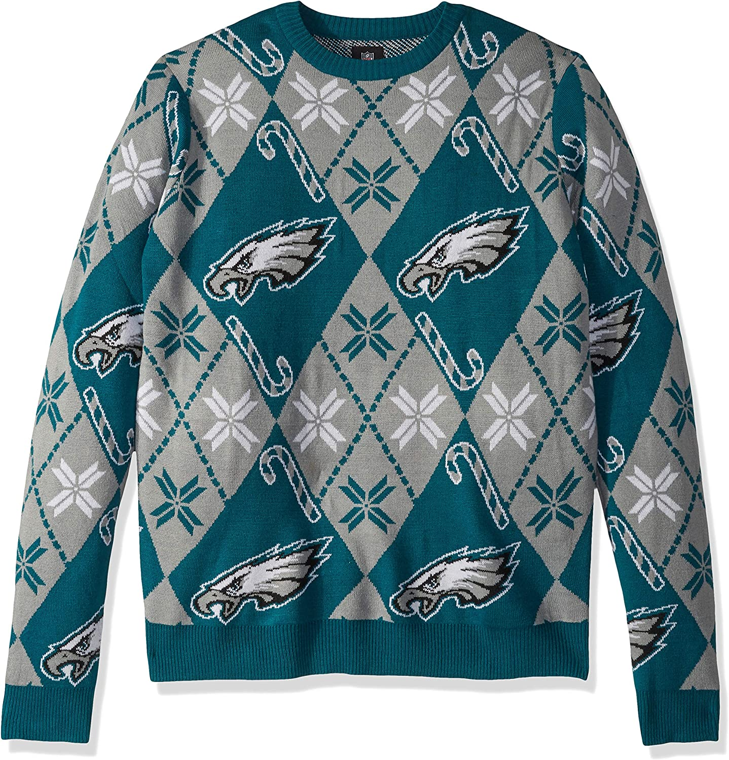 NFL Philadelphia Eagles CANDY CANE REPEAT Ugly Sweater X-Large