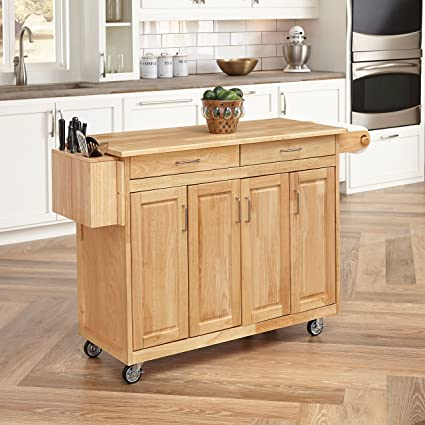 Amazon.com: Home Styles 5023-95 Wood Top Kitchen Cart with Breakfast ...