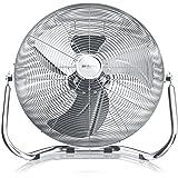 Brandson - Macchina del vento/L'originale Superventilatore/Ventilatore da 45cm   3-livelli di potenza   120W di potenza max assorbita   Design Retro/Cromo   Argento