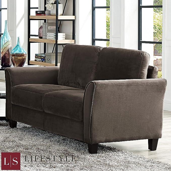 Awesome Amazon Com Sleek Design Patricia Curved Arm Sofa Loveseat Machost Co Dining Chair Design Ideas Machostcouk