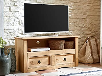 sam tv board aus kiefernholz mexico mobel lowboard mit 2 schubfachern