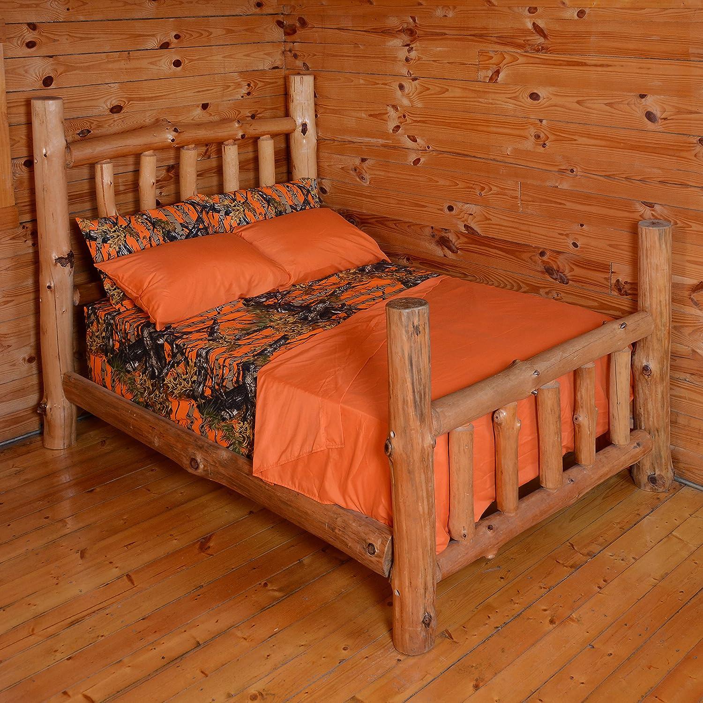 Orange camo bedding - Amazon Com The Woods Premium Microfiber Camo Sheet Set Orange Twin Home Kitchen
