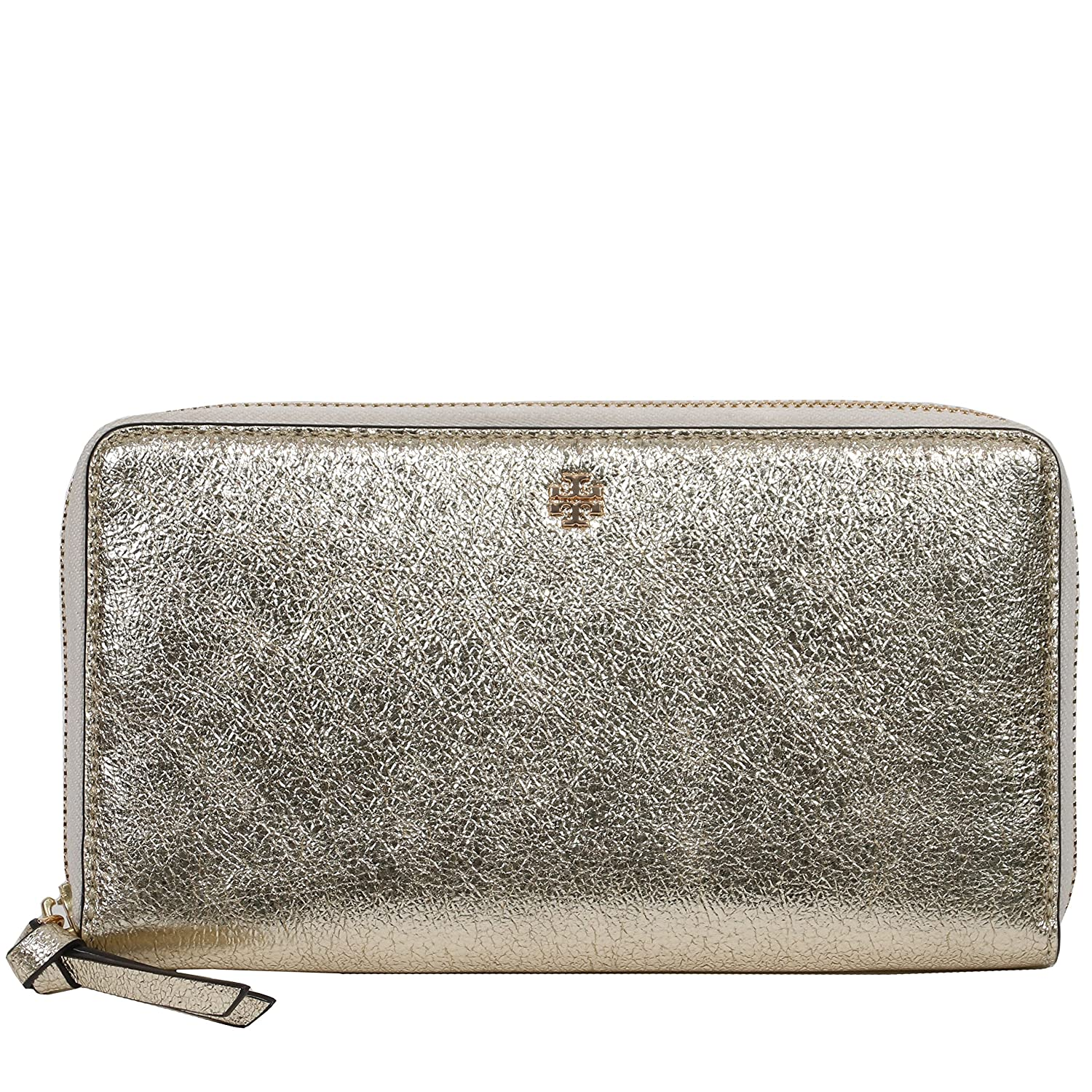 144d094e3d26 Amazon.com  Tory Burch Crinkle Metallic Zip Continental Wallet (Pink)   Clothing